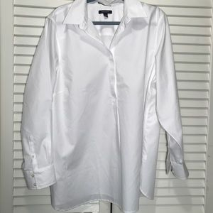 Land's End Collared White Tunic/Shirt. Size 22W.